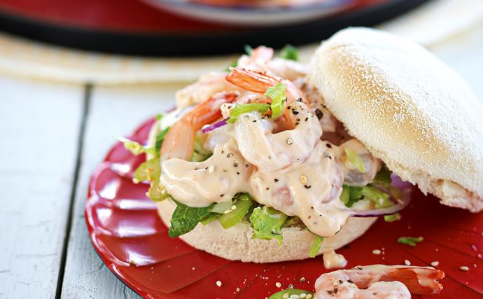 Prawn rolls with thousand island dressing