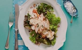 Tarragon Chicken Breasts with Apple Salad