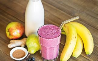 Cranberry and Apple-Pie Smoothie