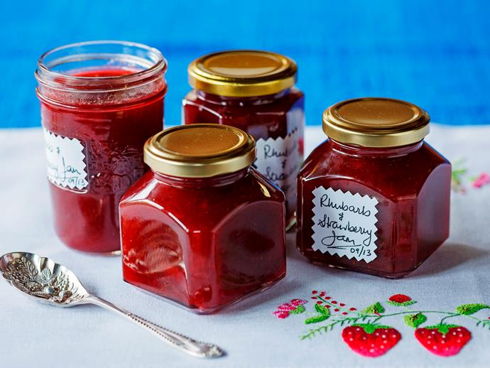 "**[Rhubarb and strawberry jam](https://www.womensweeklyfood.com.au/recipes/rhubarb-and-strawberry-jam-23959|target=""_blank"")**  Spreads tastes so much sweeter when you've made them yourself with less preservatives and more of the good stuff like quality rhubarb and strawberries."