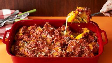 Pumpkin parmigiana