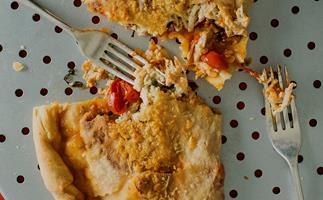 Leftover Chicken and Cheese Calzone Ripieno