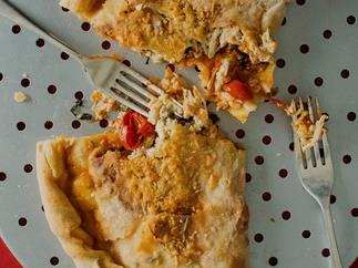 Leftover Chicken and Cheese Calzone Ripieno