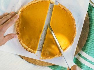 Pumpkin and ginger tart