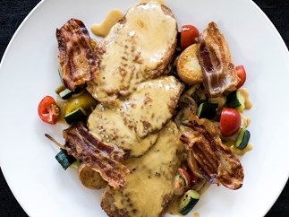 Veal Scaloppine with Wild Mushrooms and Marsala Sauce