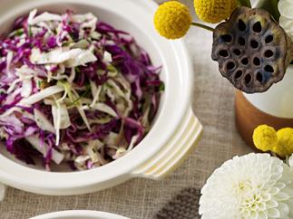 Warm Red and Green Cabbage Slaw