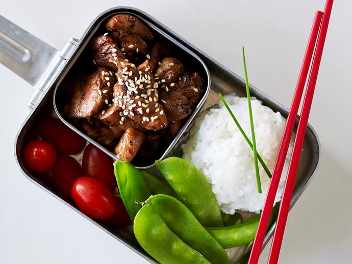 """**[Teriyaki Chicken Bento](https://www.womensweeklyfood.com.au/recipes/teriyaki-chicken-bento-25739