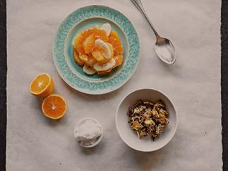 Super seeds and citrus breakfast granola