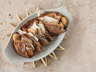 Crepes with Chocolate, Banana and Rum Filling