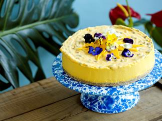 Mango and Pineapple Mousse Cake