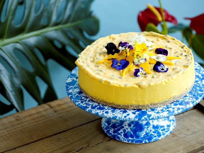 """**[Mango and pineapple mousse cake](https://www.womensweeklyfood.com.au/recipes/mango-and-pineapple-mousse-cake-26499