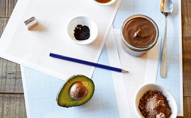 Healthy lunch box chocolate pots
