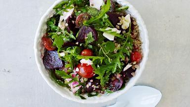 Freekeh and beetroot salad