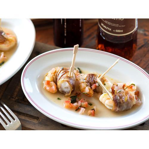Pancetta Prawns With Sambuca Salsa Recipe