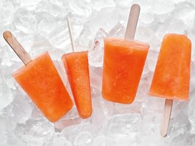 Orange campari pops