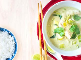 Fish & leek thai green curry