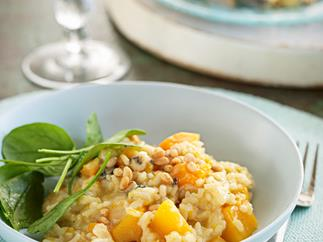 Pumpkin and blue cheese risotto