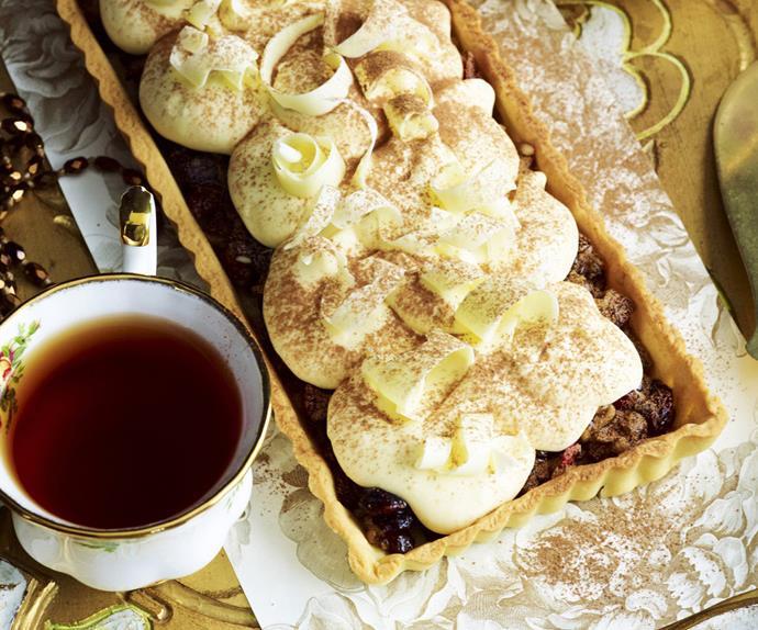FRUIT MINCE TART with White ChocolateCream