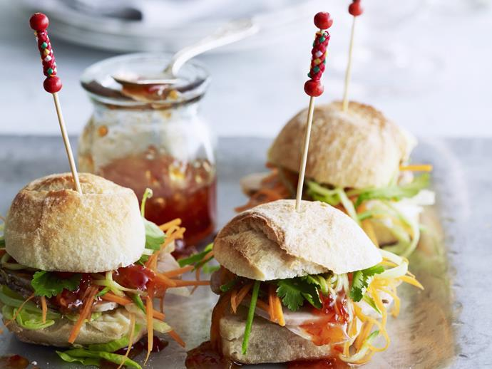 """Delicious, fragrant and herbaceous [mini Vietnamese-style pork rolls](https://www.womensweeklyfood.com.au/recipes/mini-vietnamese-style-pork-rolls-6050