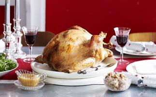 traditional turkey with forcemeat stuffing