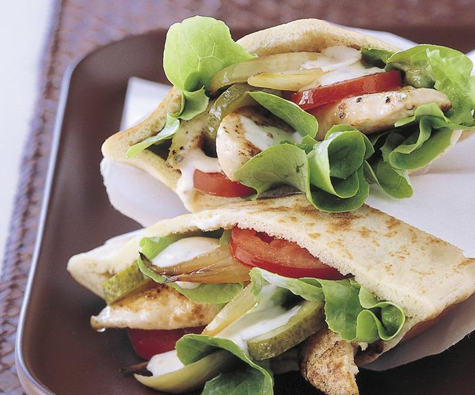 Chicken pitta pockets