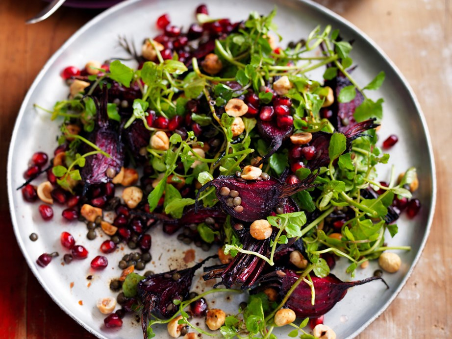 "[Baby beetroot, green lentil, watercress and hazelnut salad](https://www.foodtolove.co.nz/recipes/baby-beetroot-green-lentil-watercress-and-hazelnut-salad-16798|target=""_blank"")"
