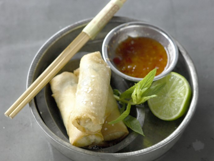 "Everyone loves a tasty [spring roll](https://www.womensweeklyfood.com.au/recipes/spring-rolls-1468|target=""_blank""). Traditionally they're eaten to celebrate the first day of spring. While we're more familiar with [fried spring rolls](https://www.womensweeklyfood.com.au/recipes/spring-rolls-with-chilli-plum-sauce-6782