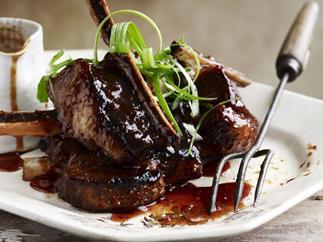 char siu and orange beef ribs