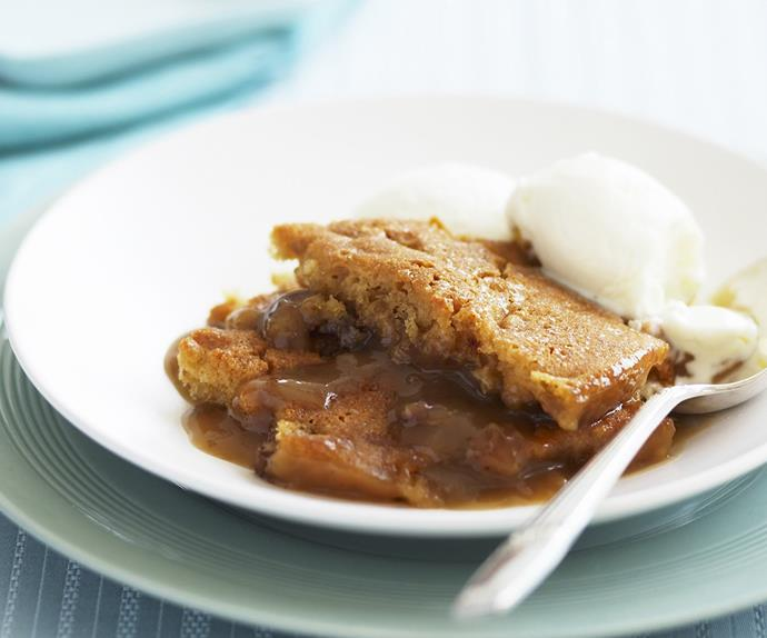 Date and butterscotch self-saucing pudding