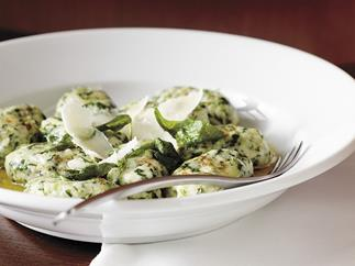 Spinach and ricotta gnocchi with sage butter