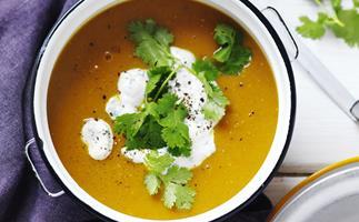 spiced lentil and roasted kumara soup