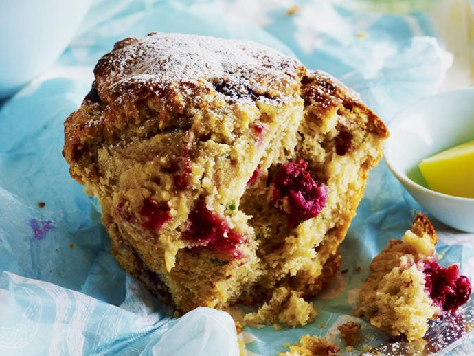 """**[Berry, ricotta and mint muffins](https://www.womensweeklyfood.com.au/recipes/berry-ricotta-and-mint-muffins-14366