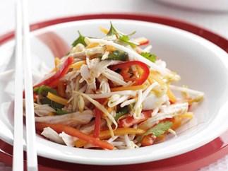 sweet chilli chicken salad