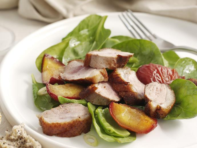 """**[Duck breasts with five-spice and honey peaches](https://www.womensweeklyfood.com.au/recipes/duck-breasts-with-five-spice-and-honey-peaches-14381 target=""""_blank"""")**  Although ingredients in five-spice powder vary from country to country, it is usually a fragrant ground mixture of cinnamon, clove, star anise, sichuan pepper and fennel seeds."""