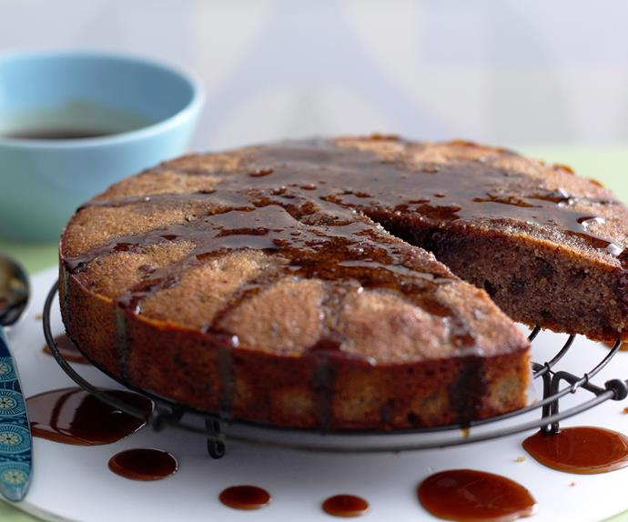 flourless fig, pecan and maple cake