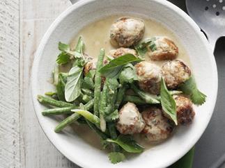 pork meatball green curry