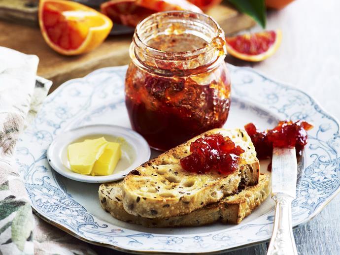 "**[Bitter blood orange and campari marmalade](https://www.womensweeklyfood.com.au/recipes/bitter-blood-orange-and-campari-marmalade-14462|target=""_blank"")**"