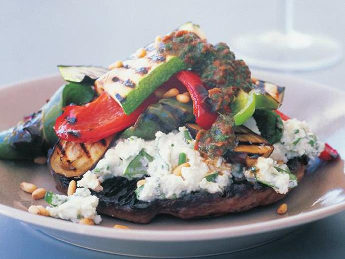 """What better way to get your five-a-day than this colourful and [healthy vegetable and ricotta stack](https://www.womensweeklyfood.com.au/recipes/grilled-vegetable-and-ricotta-stack-15348