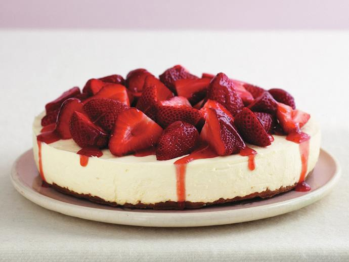 "**[White chocolate and strawberry cheesecake](https://www.womensweeklyfood.com.au/recipes/white-chocolate-and-strawberry-cheesecake-15349|target=""_blank"")**  If you're talking about perfect flavour combinations, white chocolate and strawberry has to be pretty high on the list, and never more so than when combined to make a fabulous cheesecake!"