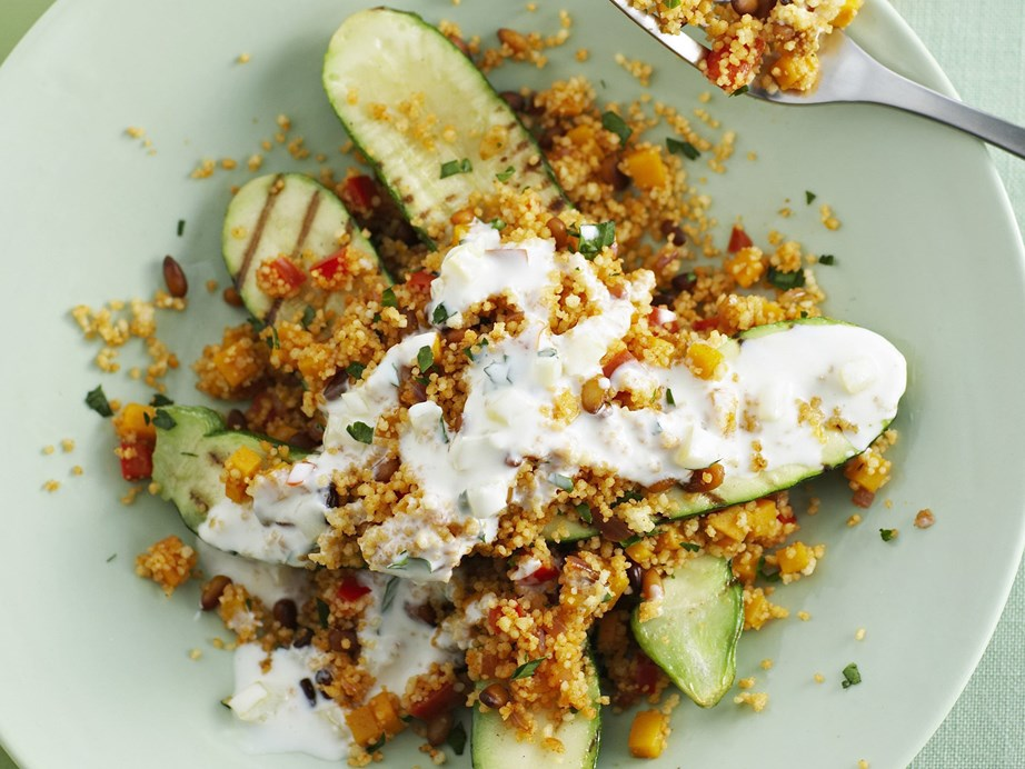 "**[Zucchini with pumpkin and couscous](https://www.womensweeklyfood.com.au/recipes/zucchini-with-pumpkin-and-couscous-14561|target=""_blank"")**"