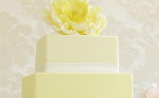 yellow peony Rose Cake