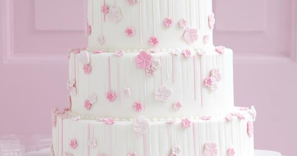 Pink On White Flower Cake Australian Womens Weekly Food