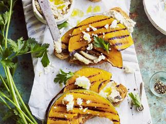 ALMOND SKORDALIA AND PUMPKIN BRUSCHETTA