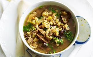 CHICKEN, PORCINI AND BARLEY SOUP