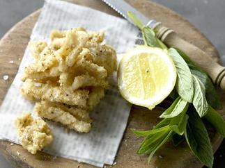 salt and lemon-pepper squid