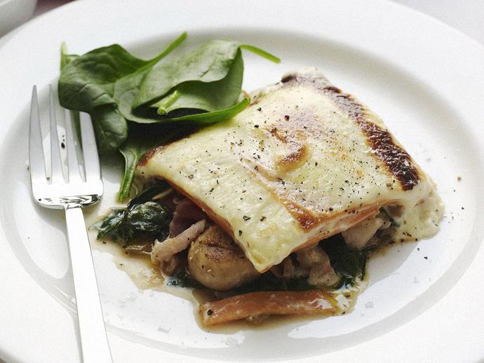 "**[Kumara, silverbeet and mushroom bake](https://www.womensweeklyfood.com.au/recipes/kumara-silverbeet-and-mushroom-bake-14120|target=""_blank"")**"