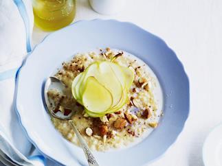 pear and almond rice porridge
