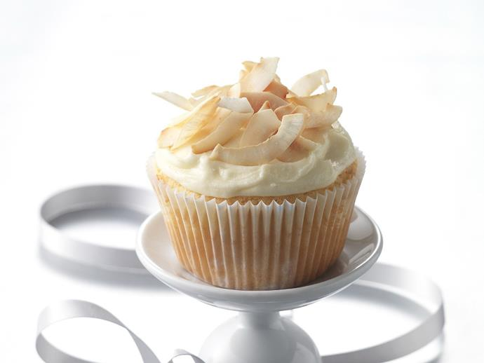"[Toasty coconut cupcakes](https://www.womensweeklyfood.com.au/recipes/toasty-coconut-cupcakes-14199|target=""_blank"")"