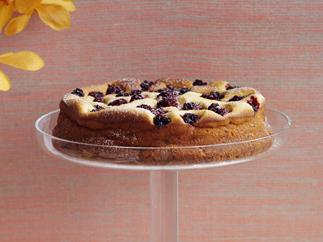 low-fat lemon and blackberry cheesecake