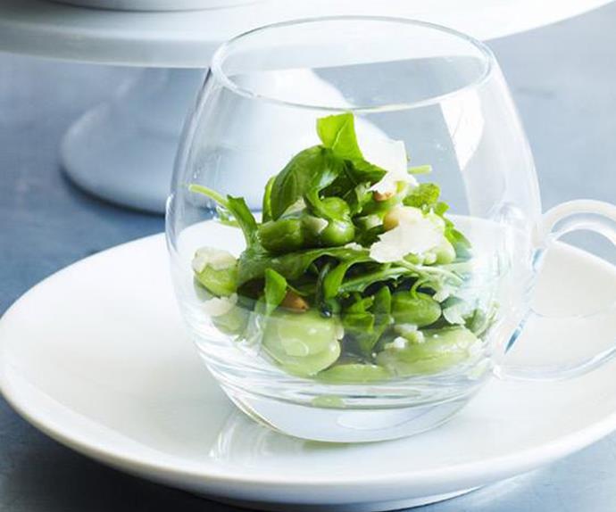 BROAD BEAN, PineNut andRocket Salad